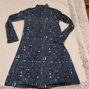 NWT Samantha Sung Deep Blue Sz6 Silk Jersey Dress